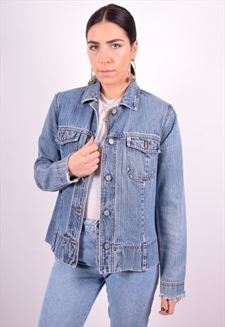 GUESS WOMENS VINTAGE DENIM JACKET MEDIUM BLUE 90'S