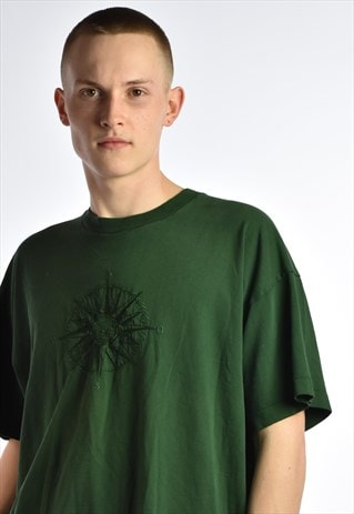 VINTAGE EMBROIDERED COMPASS T-SHIRT