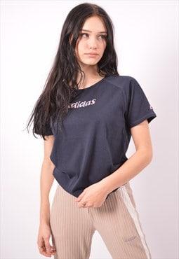 Vintage Adidas T-Shirt Top Blue