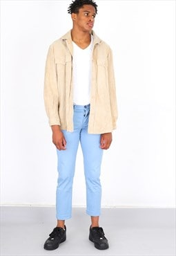 Vintage Cream Suede Tan Jacker