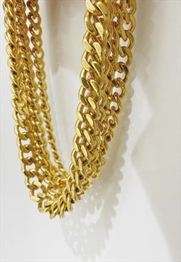 FALIS - Cuban Chain Link 24K Gold Plated Necklace