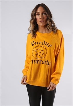 Sweatshirt Jumper Oversized UNIVERSITY Print UK 18 (GI5A)