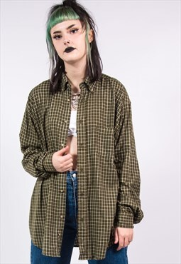 Vinage 90's Oversized Wrangler Check Flannel Shirt
