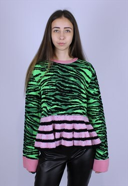 Kenzo X H&M rare Tiger print and pink stripe top