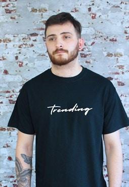 Trending graphic print T-shirt in black