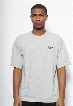 Vintage Reebok Logo T-Shirt Grey