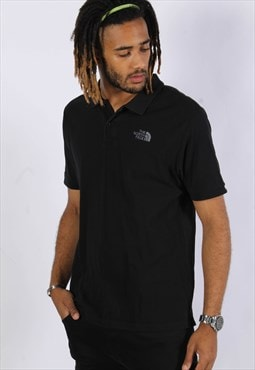 Vintage The North Face Polo Shirt Black
