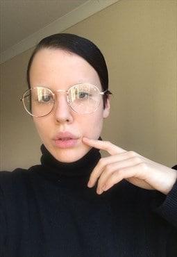 Rose Gold Oval Sunglasses