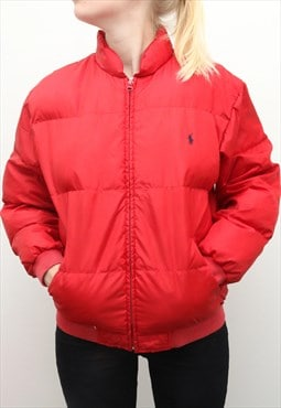 Ralph Lauren - Red Collared Padded Jacket - XLarge