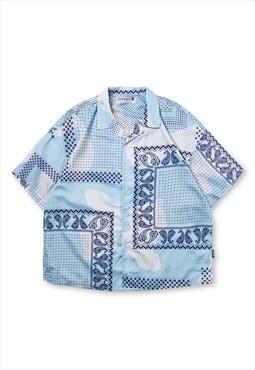 Kalodis Vintage cashew flower Cuban collar shirt