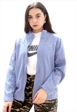 90's Retro Blue Fleece Jacket