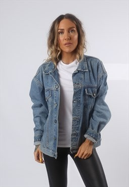 Denim Jacket Oversized Fitted Vintage UK 18 (GG2P)
