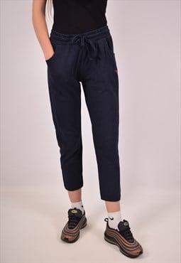 Vintage Diadora Tracksuit Trousers Navy Blue