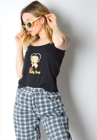 VINTAGE 90S BLACK BETTY BOOP TOP