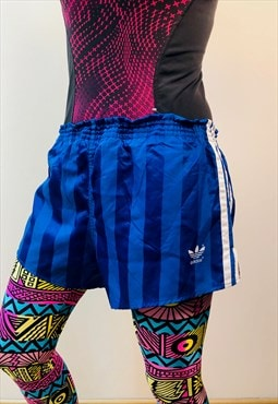 adidas blue soccer Shorts running germany 80s