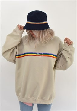 G&G Unisex Sand Rainbow Ribbon Sweat