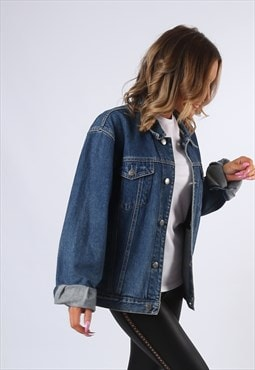 Denim Jacket JEANAGERS Oversized Fitted UK 14 - 16  (E4CJ)