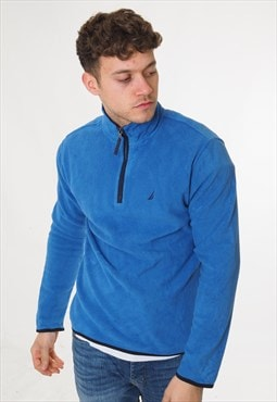 Vintage Nautica 1/4 Zip Fleece Blue