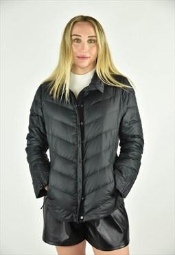 Vintage 90's Gap Puffer Jacket Black Size SM