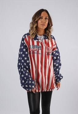 Shell Bomber Jacket Print Oversized EAGLE USA  (BJ2Z)