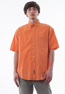 Vintage GANT 90s Orange Short Sleeve
