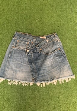 Vintage Levi's Reworked  Denim Skirt Ultra Mini