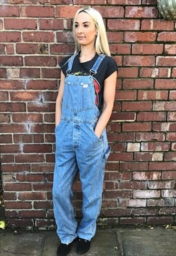 Vintage Guess 90's blue long denim dungarees