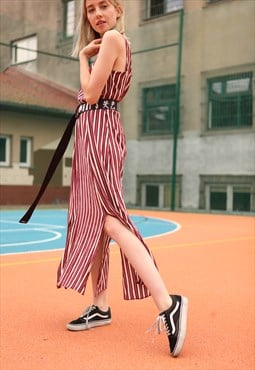 Vintage Stripes Maxi Dress Stripes