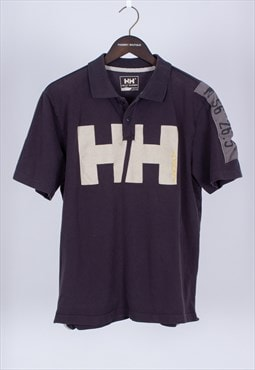 Vintage 90s Grey Polo Shirt Helly Hansen