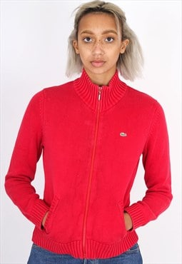 Vintage Red Lacoste cardigan