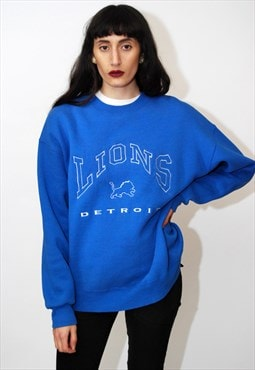 Detroit Lions Sweatshirt (L) vintage 90s jumper football nfl