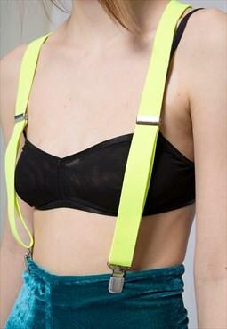 Flash Fluorescent Yellow Suspenders