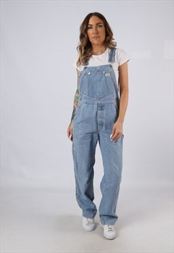 Vintage Denim Dungarees GUESS Wide Leg UK 10 Small (A5D)
