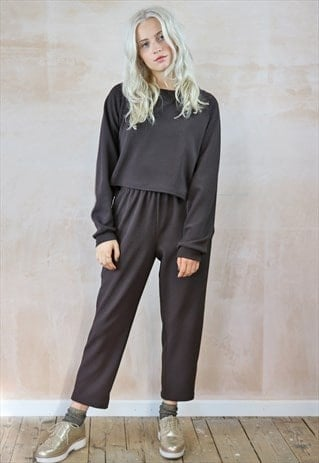 Cropped Trousers & Oversized Top Co-ordinates