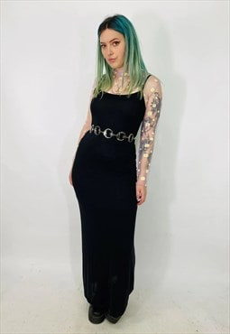 Vintage Rare 90s Moschino Black Maxi Dress