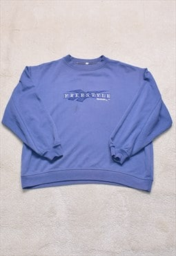 Womens Vintage 90s Reebok Spell Out Embroidered Sweater