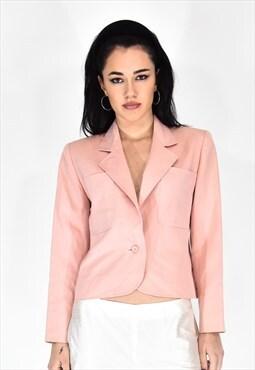 Yves saint laurent pink jacket elegant style