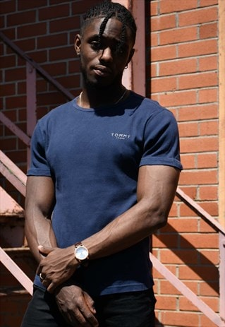 TOMMY JEANS NAVY BLUE T-SHIRT
