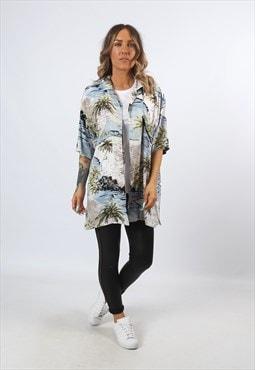 Print Patterned HAWAII Shirt Oversized Festival UK 16  (H1G