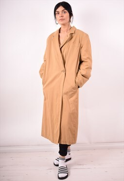 Giorgio Armani Womens Vintage Coat Medium Brown 90s
