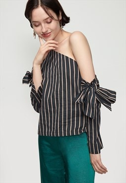 Asymmetric Off Shoulder Top