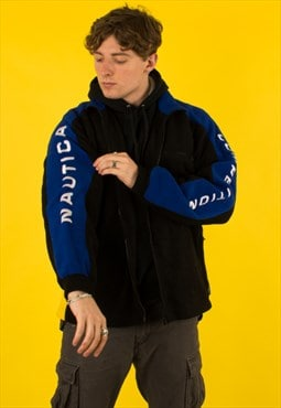 Vintage Nautica Spellout Full Zip Fleece