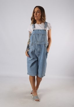 Vintage Denim Dungaree Shorts UK 12 Medium (BE1W)