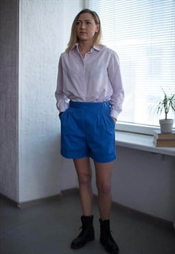Vintage 90's Blue High Waist Classic Shorts
