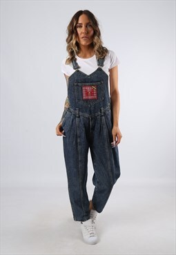 Denim Dungarees GUESS Wide Tapered Leg UK 10 Small (G92S)