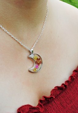 MoonChild Floral Moon necklace