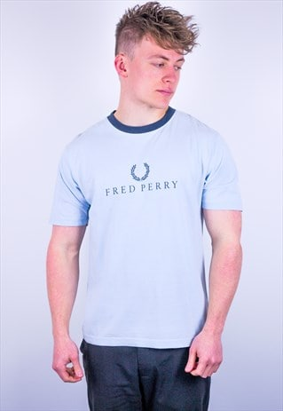 Vintage Fred Perry Ringer T-Shirt in Blue