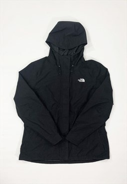 Womens North Face jacket black rain coat zipper hoodie