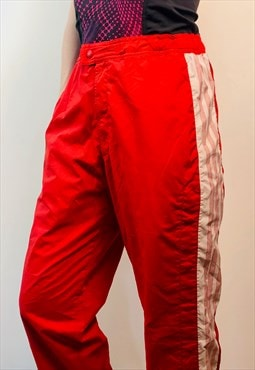 Adidas red windbreaker Sport Pants 80s Vintage retro