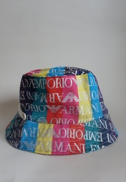 Y2k ARMANI Monogram Bucket Hat